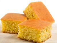 Basic Corn Bread Recipe   without sugar nor syrup  -123recipes.com  (flour, cornmeal, baking powder, salt, milk, egg, butter)