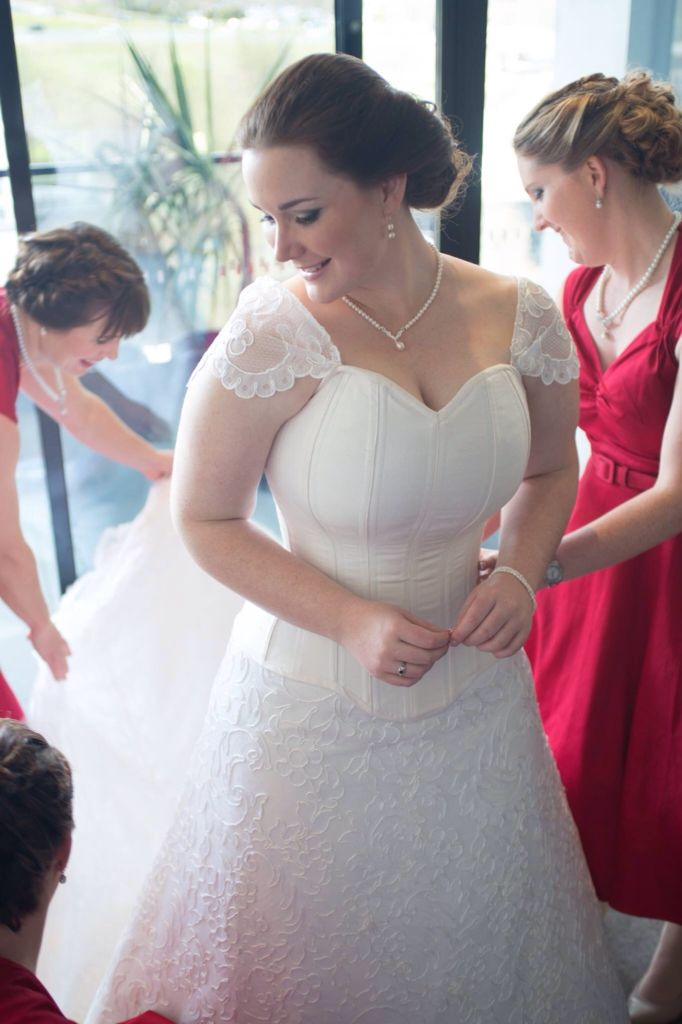 Julia K Couture wedding gown worn by Mindy Bush on her gorgeous wedding day