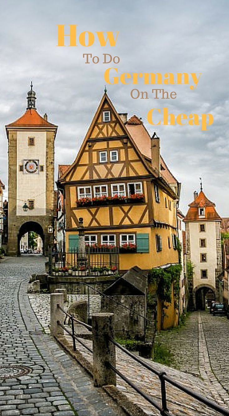 How To Do Germany On The Cheap. Ultimate Germany Guide to saving money while traveling in Germany but yet having the ultimate German Adventure. Click to read more at http://www.divergenttravelers.com/ultimate-germany-road-trip-guide/