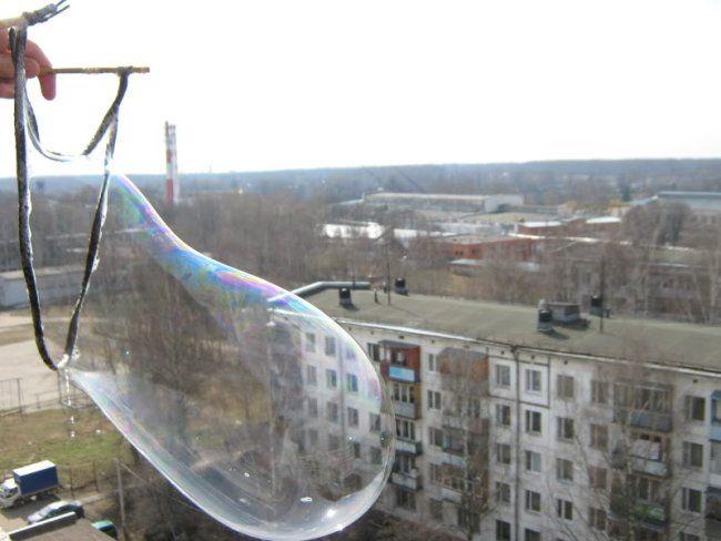 giant soap bubbles - recipe