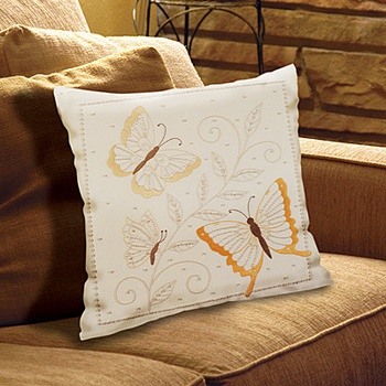 Butterflies Pillow - Candlewicking Embroidery Kit
