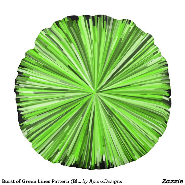Burst of Green Lines Pattern (Black Background)