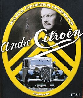 André Citroën, founder of Citroen motor vehicles, on the cover of John Reynold's book • Citroen 2CV duck • riawati