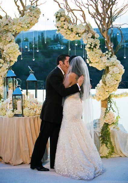 Trent Reznor and Mariqueen Maandig Reznor on their wedding day.