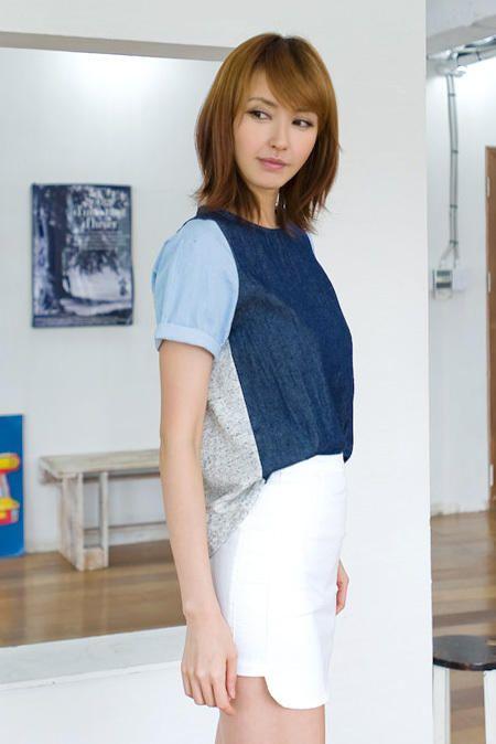 3 color denim blouse from Kakuu Basic. Saved to Kakuu Basic Tees & Tops. Shop more products from Kakuu Basic on Wanelo.