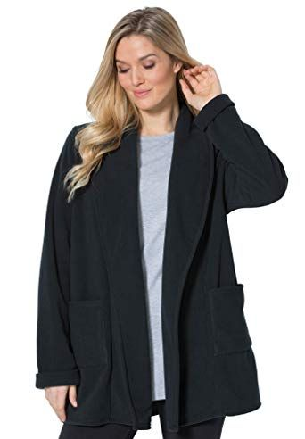 1e220ef0d4 Great for Woman Within Women's Plus Size Microfleece Cardigan online.  [$24.39] allnewtrendy from top store