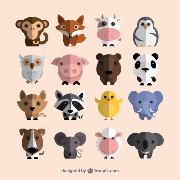 Coleção dos animais bonitos                                                                                                                                                     Mais