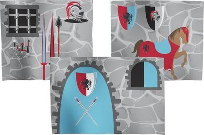 All knights to the castle! #FLEXA #storage #bleu #red #grey  #stylish #fun