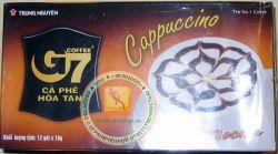 КАПУЧИНО - Trung Nguyen Coffee G7 Cappuccino Chocolate - быстрорастворимый вьетнамский шоколадный кофе капучино - 12 пакетиков в упаковке - 216 гр. Вьетнам.