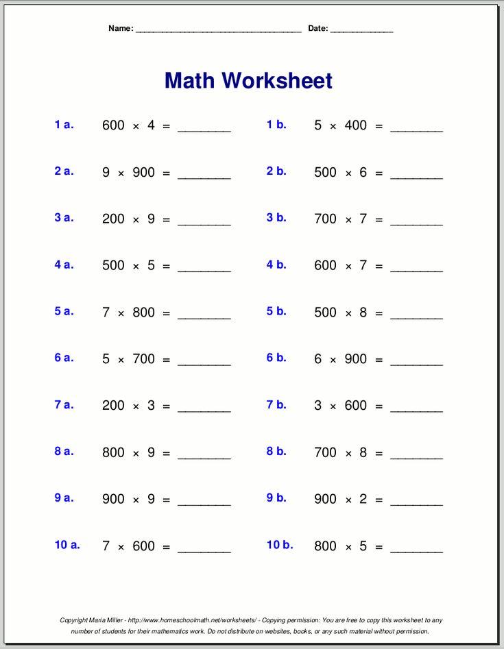 Grade 4 multiplication worksheets   Multiplication ...