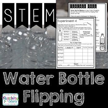 Water Bottle Flipping STEM Activity is a packet of five experiements your students will love! Water Bottle Flipping is the latest trend! Even though it might drive you crazy, it will engage your students in learning about collecting data, fractions, measurement, and opinion writing.