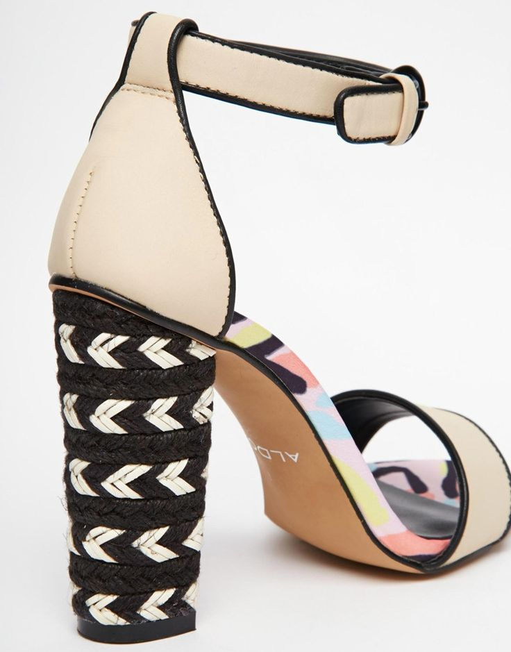 Image 3 of ALDO Griliri Nude Block Heeled Sandals
