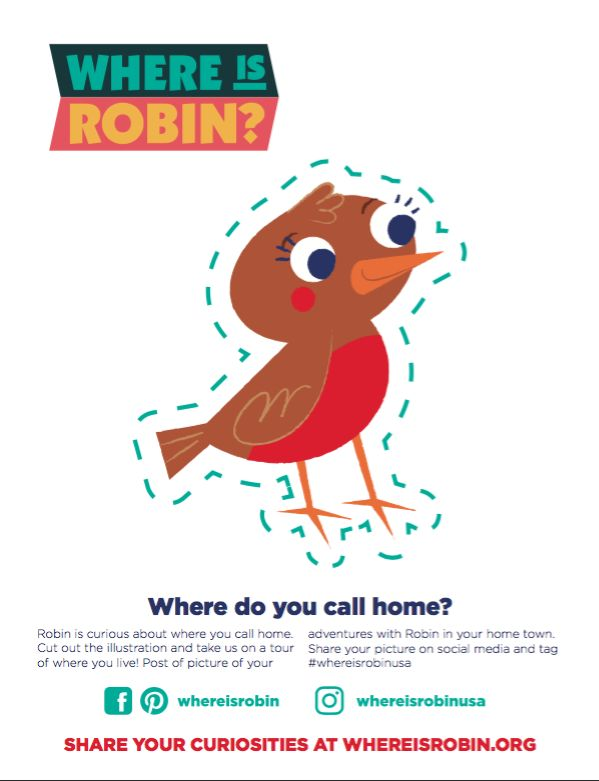 Robin is a warm, welcoming, and inquisitive bird.  She is a colorful and creative character who exudes joy that is contagious and insatiable curiosity to experience all that the world has to offer. Through all of her adventures, she connects with local people and places to discover their culture, history, and why they are unique.  Robin promises you a memorable journey full of learning, laughter, and love. Don't let Robin fly alone on her trips – spread your wings and come along!