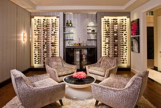 Denise Richards Residence - Contemporary - Wine Cellar - los angeles - by Smith Firestone Associates
