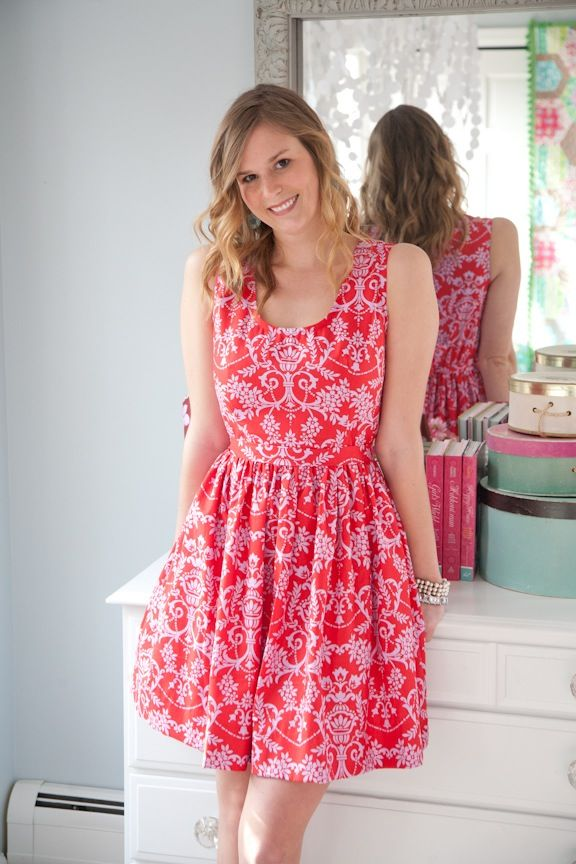 """My """"go-to"""" dress pattern! This pattern is easy enough for a beginner and incredibly well-illustrated to help you every step of the way."""