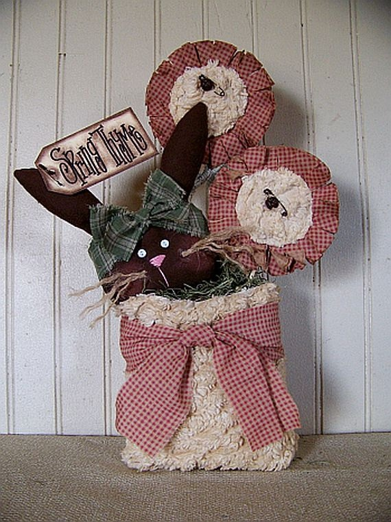 Primitive Easter  Spring Thyme Bunny and by CherylsPrimkeepsakes, $23.99