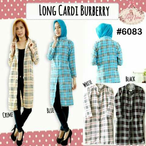 6083 long cardigan burberry 4 warna @ 65000