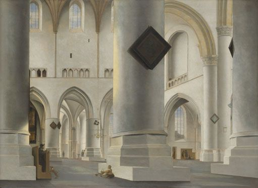 The Interior of the Grote Kerk at Haarlem by Saenredam 1636    National Gallery, London