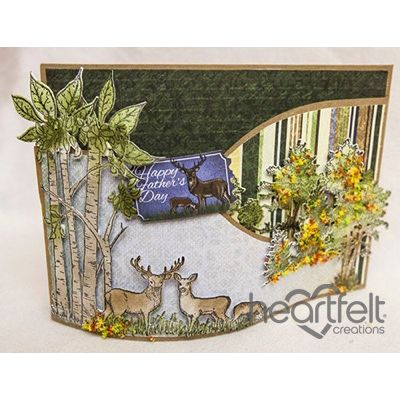 Heartfelt Creations - Woodsy Scene Fathers Day Foldout Project