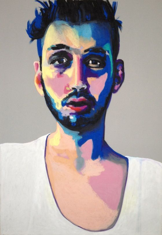 Pablo, by Swedish Artist Emma Tingård. Art, painting, portrait, art poster, art print