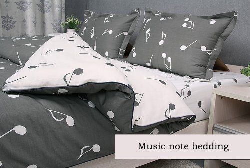 cliab music note bedding set quee king twin full siz removable and machine washable duvet cover. Black Bedroom Furniture Sets. Home Design Ideas