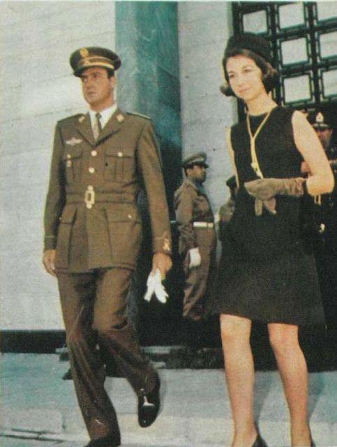 Prince Juan Carlos and Princess Sofia of Spain, Iran, October 1969