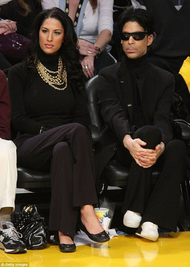 Prince then dated Bria Valente (pictured together at a Los Angeles Lakers basketball game ...