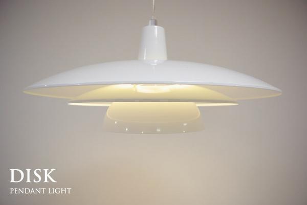 蛍光灯1灯ペンダントライト【DISK】ディスクWHダイニング北欧風 ¥7980円 〆03月06日