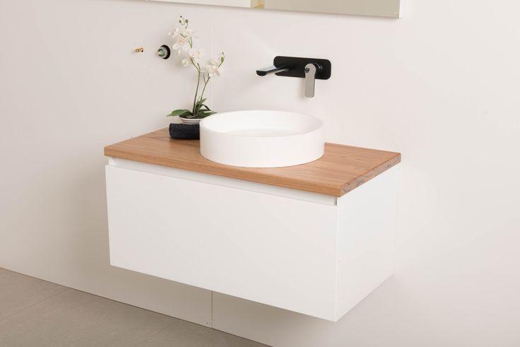 Reuben 900 Wall Hung Vanity with Timber Top and Aurora Basin