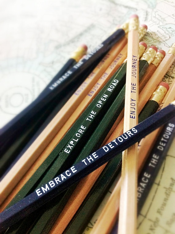 Perfect gift for the traveler or wanna be traveler! 12 Road Trip Series Pencils by Earmark, $ 13.00 #backtoschool