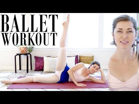 Beginners Ballet | Lean Legs & Inner Thighs, Leg Workout, Dance Fitness At Home, Ab Exercises - YouTube