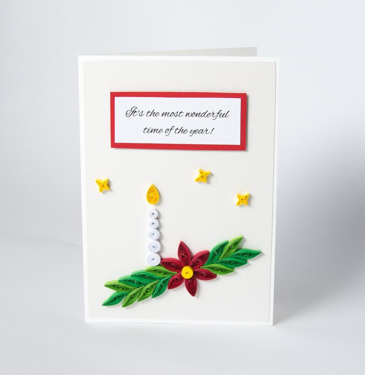 One Of A Kind Christmas Greeting Card Quilling Quilled Xmas Gift Etsy by PaperParadisePL