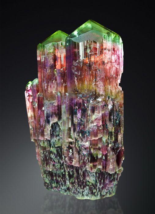 Tourmaline, Golconda Mine, Minas Gerais, Brazil via  Watzl Minerals
