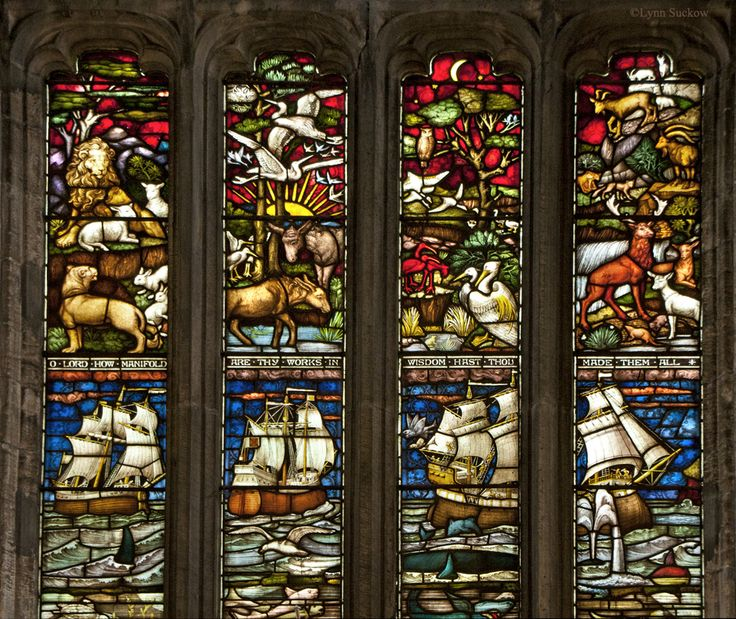 https://flic.kr/p/8s3AhS | O Lord how manifold are Thy works in wisdom hast Thou made them all | One of the biggest regrets I have of pictures not taken is I should have taken more of the beautiful stained glass windows at St Michael's Parish Church in Linlithgow.  This is a portion of the large window at the front of the church.  St. Michael's is one of the outstanding medieval churches in Scotland.  A church has stood on this site for many centuries; the first documented reference is in a…