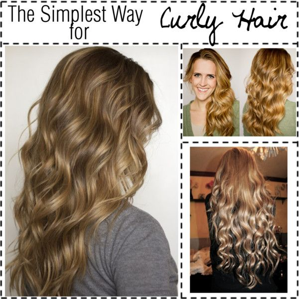 """""""The Simplest Way for NO HEAT Curly Hair"""" by the-polyvore-tippersx on Polyvore"""