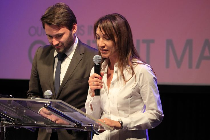 Beata Cygan, the president of Media Klaster Foundation and the host Tomasz Pełczewski opening the Festival