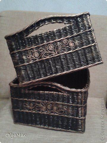 Поделка изделие Аппликация из скрученных жгутиков Плетение Продолжение темы Пейп-арт+плетение Бумага газетная Салфетки Трубочки бумажные фото 3