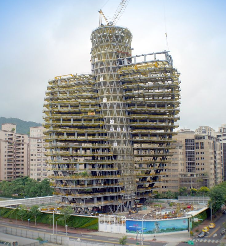 Eco-torre em Dupla Hélice toma forma em Taiwan,Cortesia de Vincent Callebaut Architectures