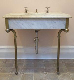 1900 Vintage Marble Sink