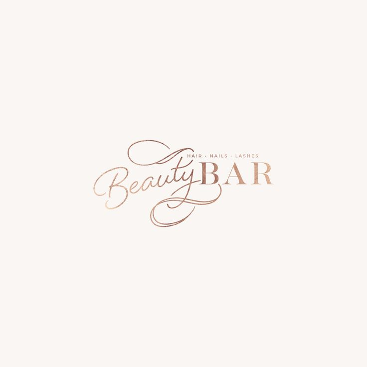 Beauty Bar Beauty Brand by Mel Volkman Beautiful Branding Elegant Branding Rose Gold Foil, Modern Brand, Modern Logo, Unique Logo Design, Timeless Logo, Business Branding, Calligraphy