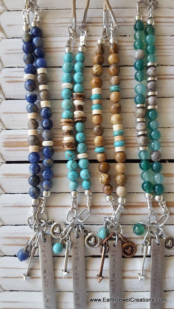 Gemstone Necklaces, word jewelry inspiration, handmade crystal jewellery,