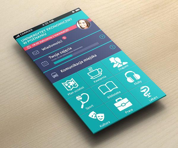 Univeristy App concept by Adam Kulesza, via Behance