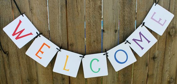 Welcome Banner / Teachers / Classrooms / 1st Day of School / Classroom Decor / Classroom Banner / Garland / Sign / Welcome on Etsy, $14.00