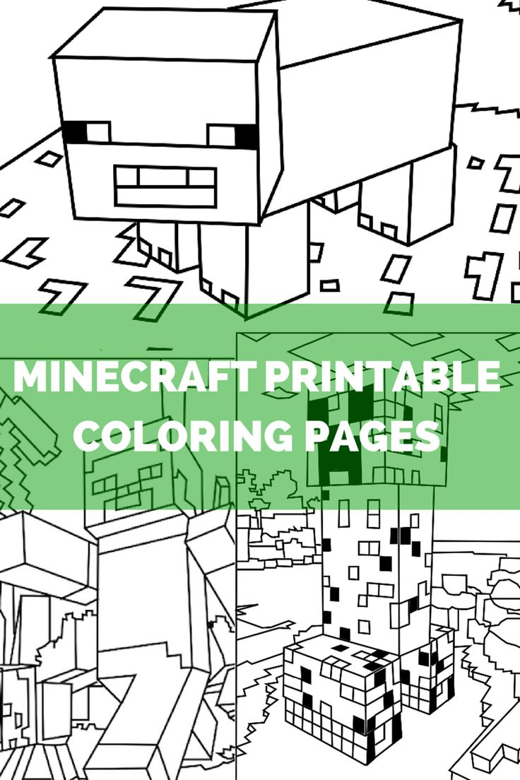 Minecraft printable coloring pages!