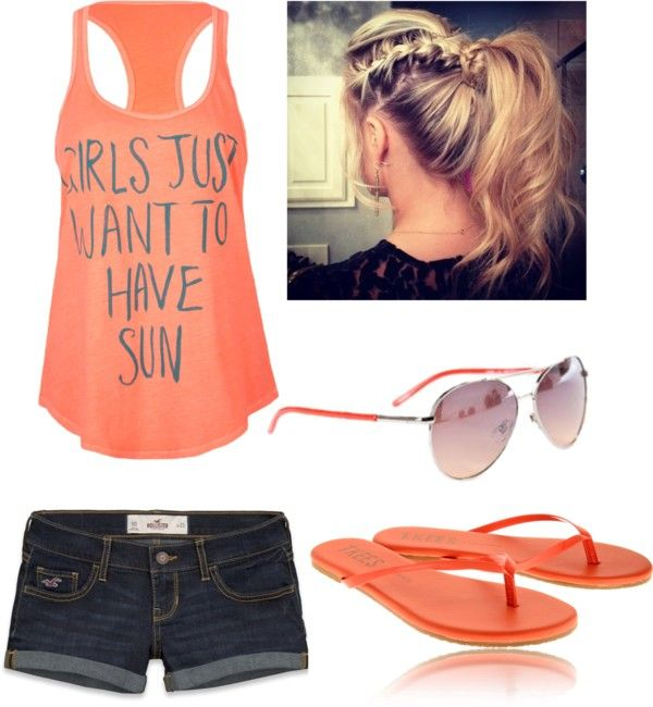 """""""Summer Time!!!:)"""" by audrie-mccabe ❤ liked on Polyvore"""