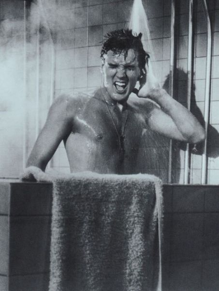Elvis singing in the shower