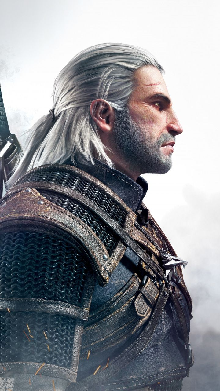 Geralt Of Rivia The Witcher 3 Wild Hunt Video Game Warrior 720x1280 Wallpaper The Witcher Game The Witcher The Witcher Geralt