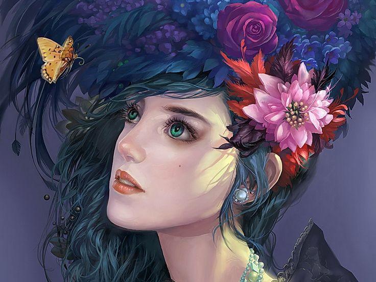 Fine Fantasy Art Women | Fantasy Girls Female Figure Fine Art Flowers Girl - Serbagunamarine ...