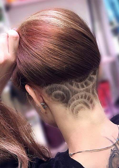a4078e7f3 54 Badass Undercut Hair Tattoos für Frauen in der Liebe mit Hair Art #badass  #frauen #liebe #tattoos #undercut