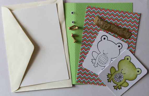 Froggy Frog Card Kit